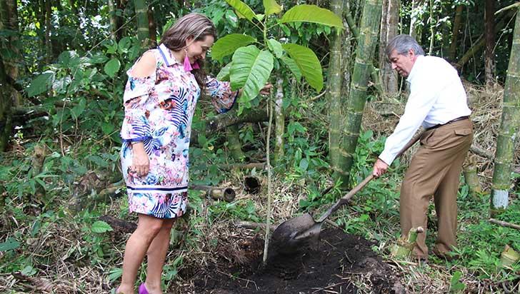 Jardín Botánico del Quindío cerró celebración de aniversario con siembra de árbol