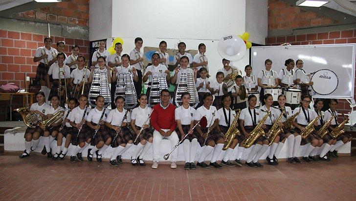 Banda marcial de Ciudadela del Sur, campeona especial en Valle del Cauca