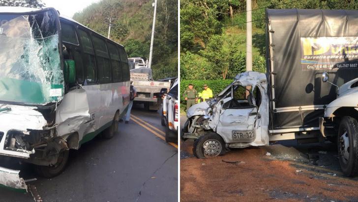 Accidente en vía Armenia - Calarcá dejó dos personas lesionadas