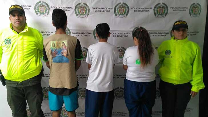 Tres adolescentes fueron aprehendidos por violencia intrafamiliar