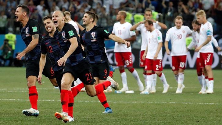 Croacia derrotó a Dinamarca por penales y se metió a cuartos de final