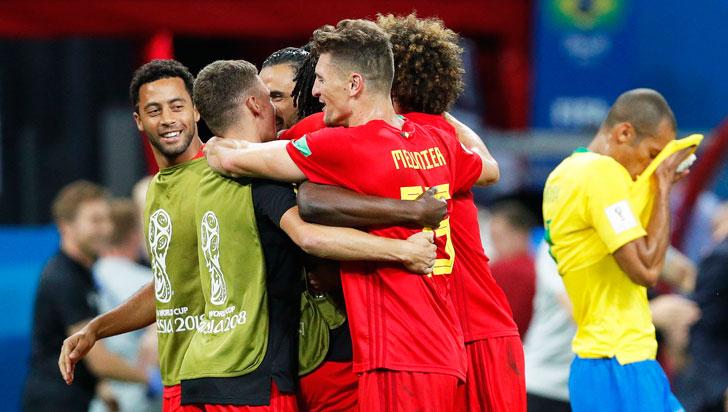 Bélgica derrotó 2-1 a Brasil y Sudamérica se quedó sin representantes en Rusia