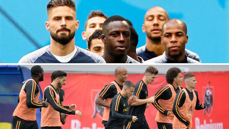 Francia y Bélgica, dos juegos distintos que quieren la final