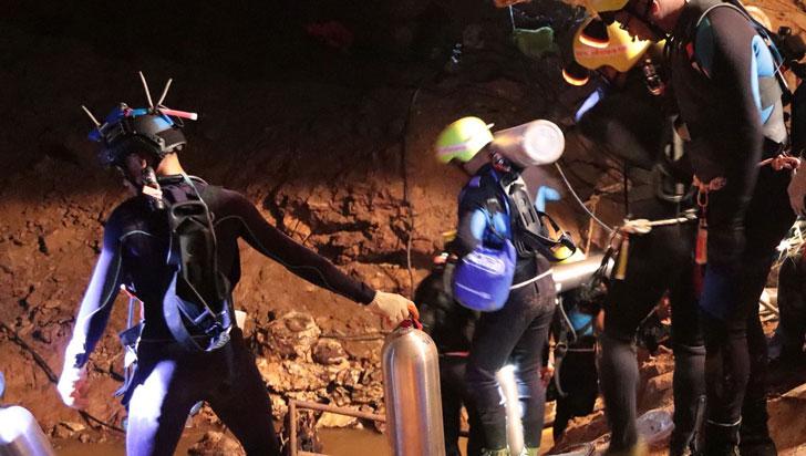 Rescatadas todas las personas que estaban atrapadas en cueva de Tailandia