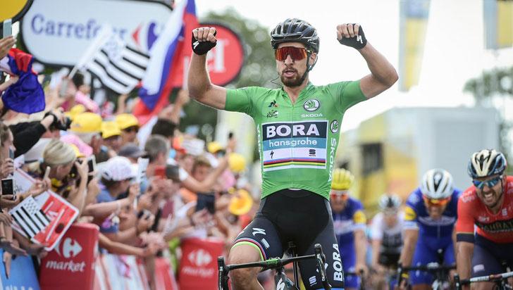Peter Sagan ganó la quinta etapa del Tour de Francia y Van Avermaet sigue líder