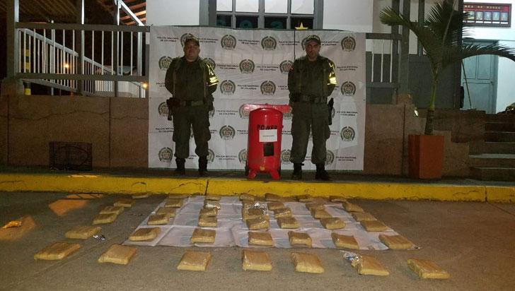 Policía Quindío incautó 22 kilos de marihuana que eran transportados en un cilindro