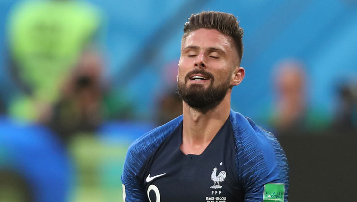 Olivier Giroud: 10 remates desviados y 0 goles