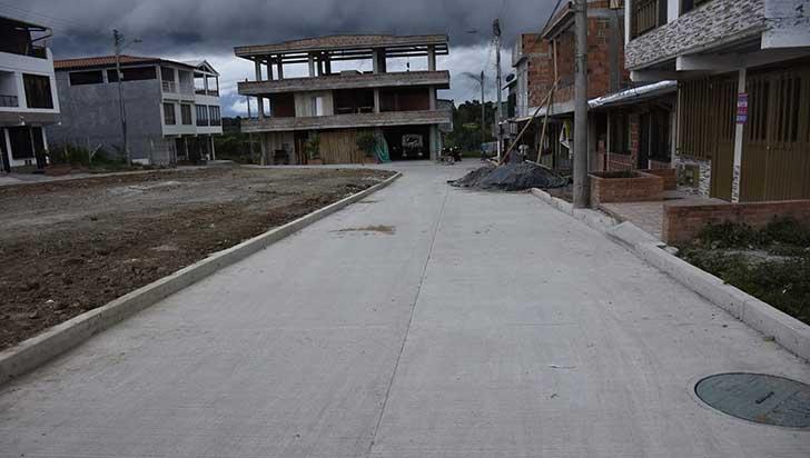 Más de $400 millones fueron invertidos en pavimentación en Quimbaya
