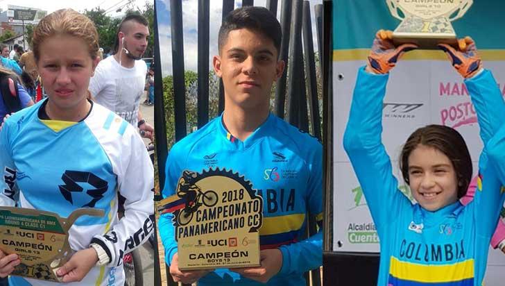 Tres quindianos ganaron carreras en panamericano y latinoamericano de BMX