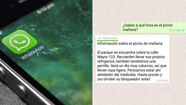 WhatsApp limitará el reenvío de mensajes con el fin de combatir las noticias falsas