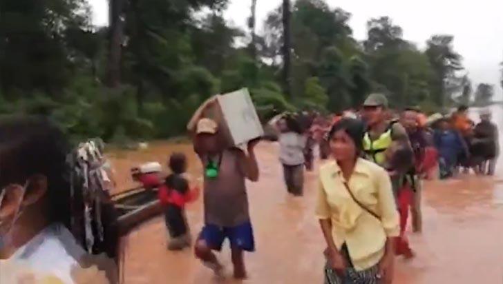 Colapso de embalse en Laos deja cientos de desaparecidos y miles de damnificados