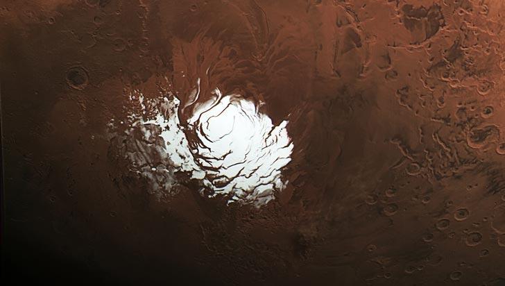Hay agua en Marte: Un lago se esconde bajo la superficie del planeta rojo