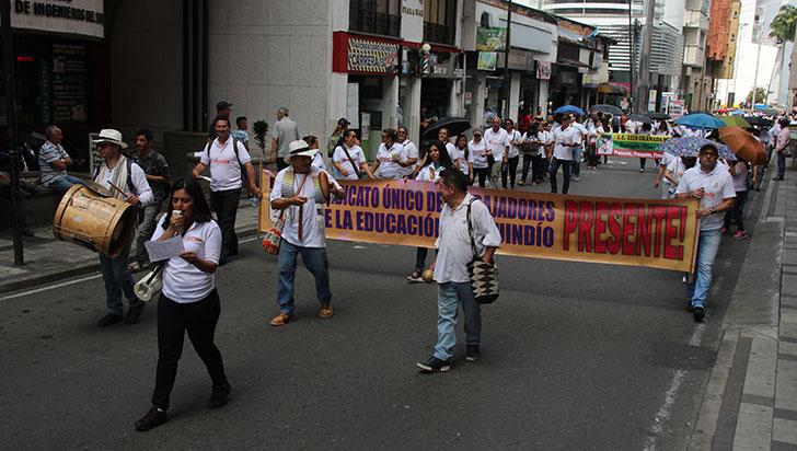 Gremio educativo se unió a paro por la amenaza de 10 maestros en Quindío