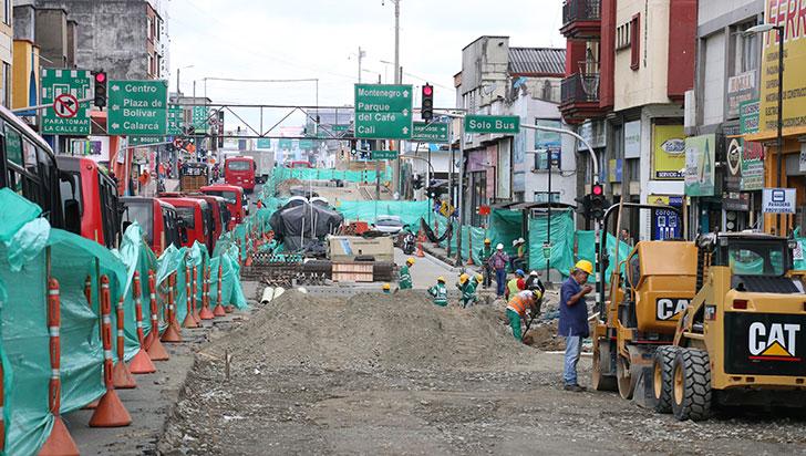 Ventas de comerciantes de la carrera 19, afectadas en un 80% por obras