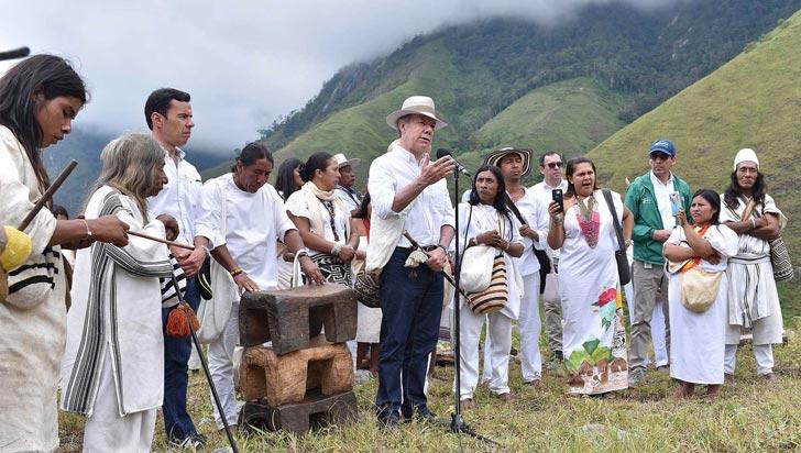 En sierra nevada de Santa Marta, Santos sancionó leyes de páramos y de cambio climático