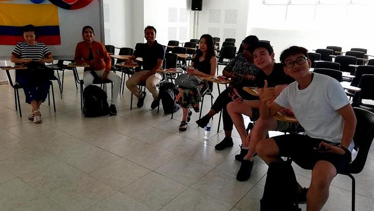 Nueve estudiantes extranjeros están de intercambio en La Gran Colombia