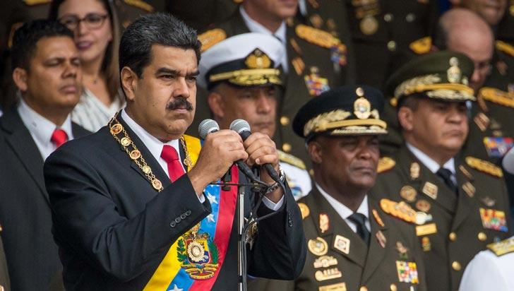 Maduro culpa al presidente Santos de presunto atentado en su contra