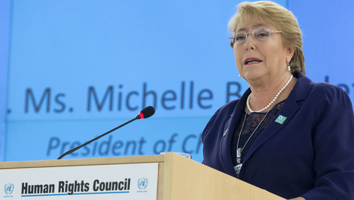 ONU confirmó a Michelle Bachelet como alta comisionada para los Derechos Humanos