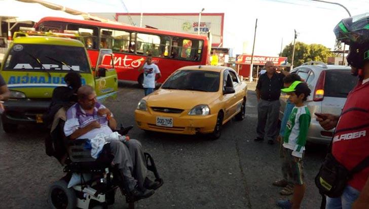Menor salió herida en discusión por accidente de tránsito