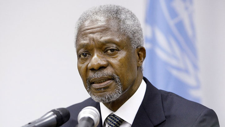 Kofi Annan, ex secretario general de la ONU, murió a los 80 años de edad