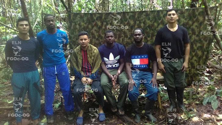 Eln pide a la Cruz Roja apoyo para la liberación de nueve secuestrados