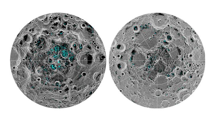 Se confirma que hay agua en la superficie de la Luna