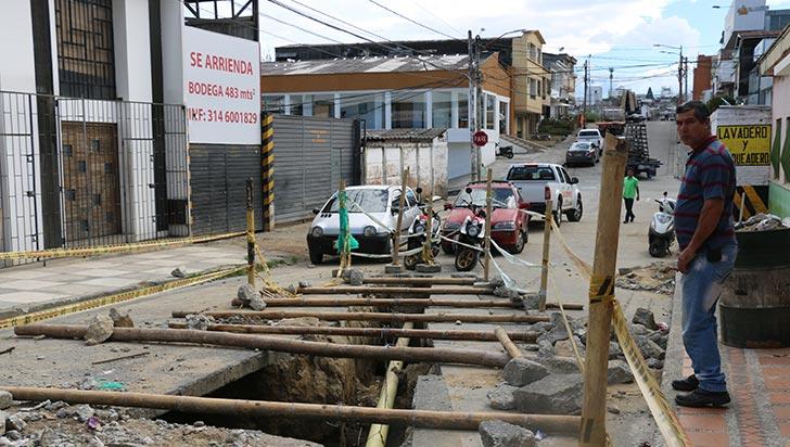 Vía cerrada en el centro, afecta a residentes y comerciantes