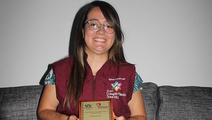 Laura Daniela Cáceres, ganadora del reconocimiento Somos Jóvenes en Calarcá