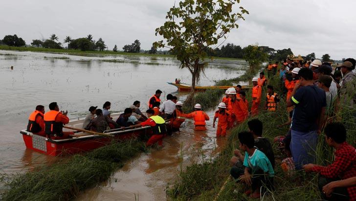 Más de 63.000 desplazados y cinco desaparecidos por rotura de presa en Birmania