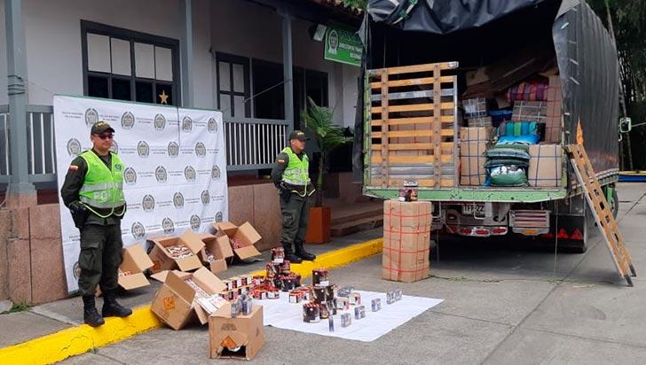 Incautan 500 kilos de pólvora avaluada en 50 millones de pesos