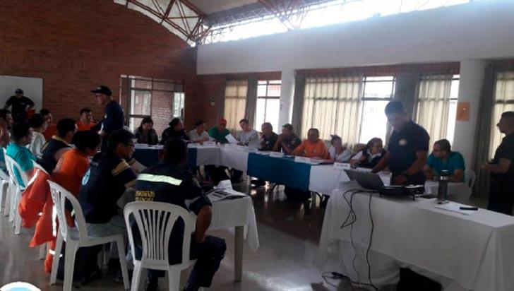 Organismos de socorro de Calarcá se capacitaron en respuesta a incidentes