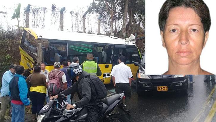 Murió pasajera de buseta accidentada el 14 de agosto