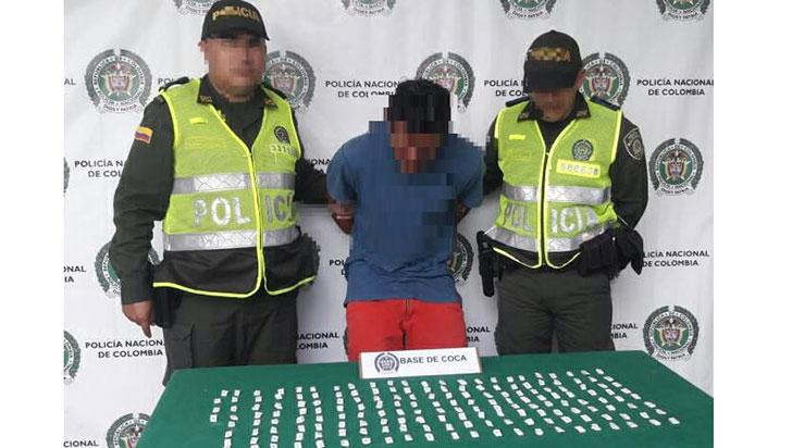 Capturado en Quimbaya con 170 dosis de cocaína