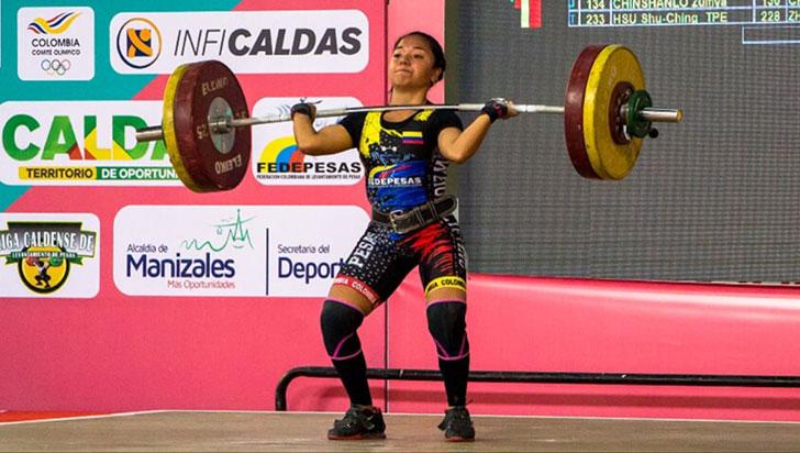 Julieth Jiménez logró oro en panamericano de pesas sub-20