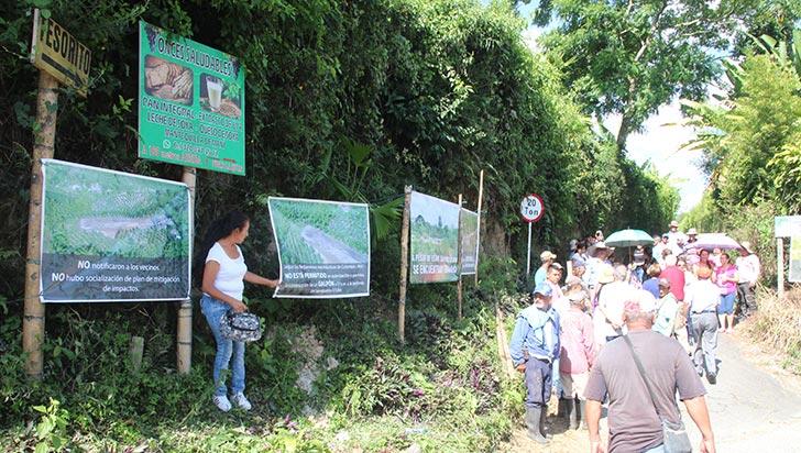 Construcción de galpón preocupa a los habitantes de El Caimo