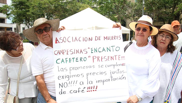 Campesinos exigieron mejores precios y creación de políticas agropecuarias