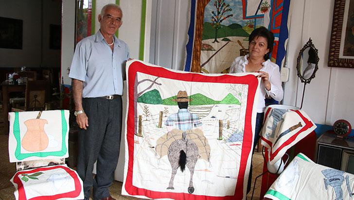 Patchwork con víctimas del conflicto
