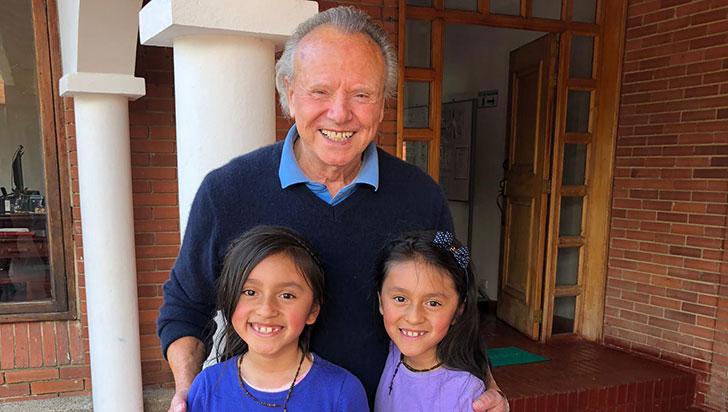 Peter Mowland llegó a Colombia para ayudar a niñas huérfanas y desamparadas