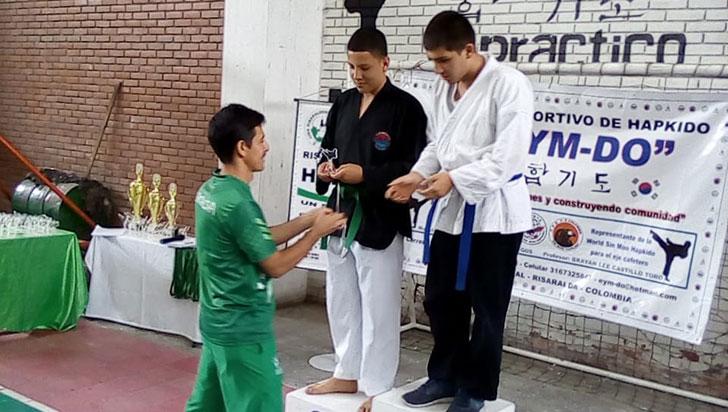 Juan José Botero fue campeón del nacional mayores de hapkido