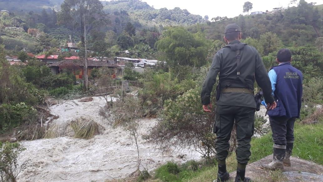 Habitantes de Pijao, en alerta por aumento de caudal del río Lejos