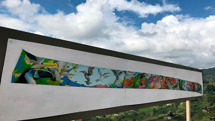 Arranca el proyecto del mural en la autopista del Café