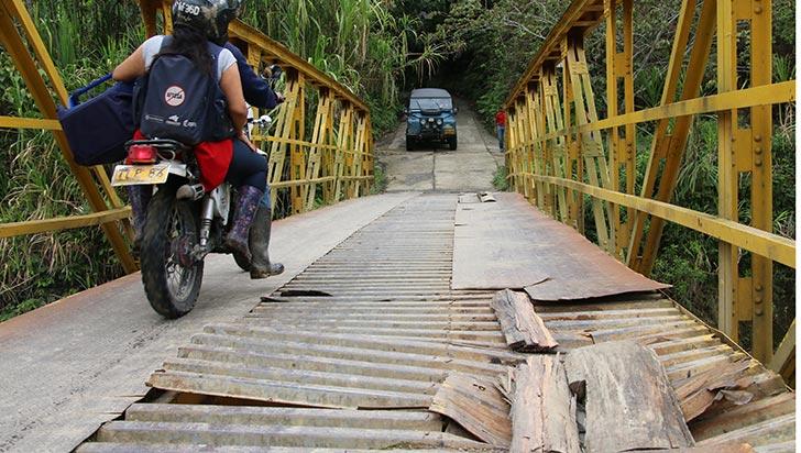 """Puente de La Nubia, en mal estado por """"exceso de peso"""""""
