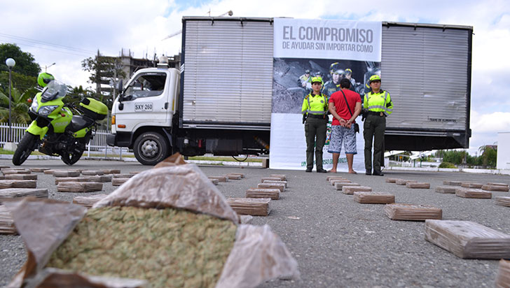 La Policía detuvo más de 65.000 personas por narcotráfico en 2018