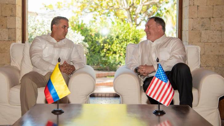 Duque pide ante Pompeo hacer esfuerzos para devolver democracia a Venezuela