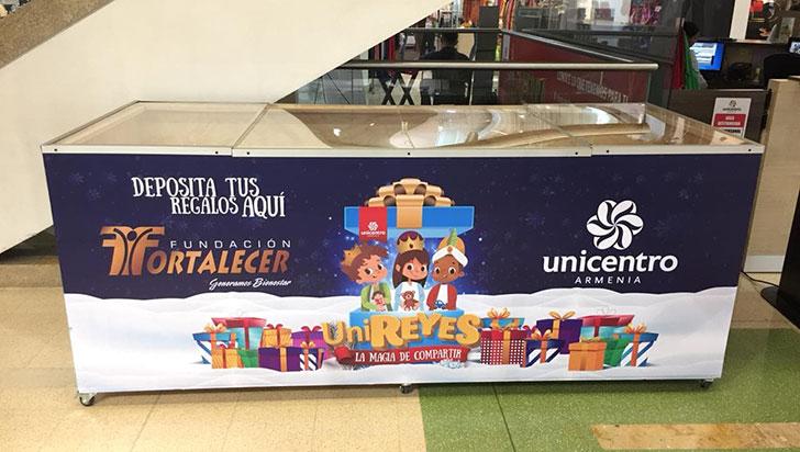 Hasta el próximo lunes, Unicentro recibirá regalos para los niños