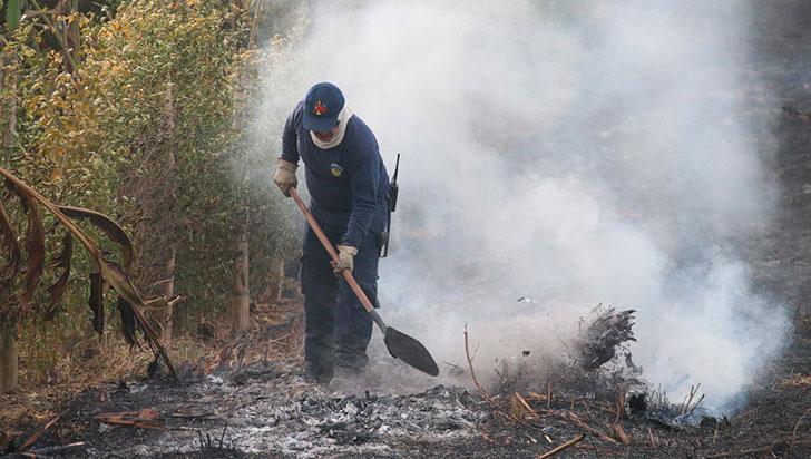 En Quindío van 7 incendios de cobertura vegetal; alerta roja