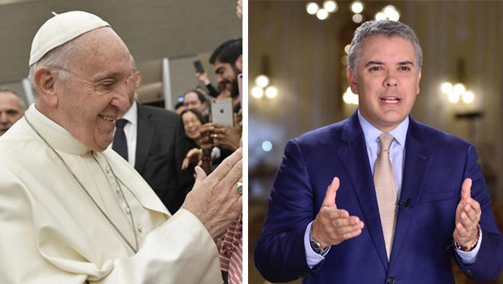 Duque valora mensaje del papa sobre ayuda de Colombia a migrantes venezolanos