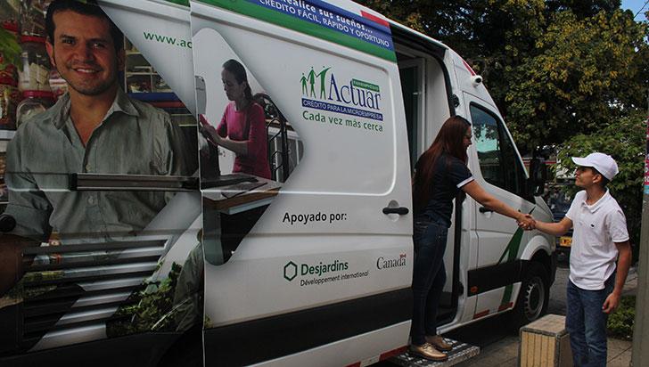 Con oficina móvil, Actuar busca tener mayor cobertura geográfica