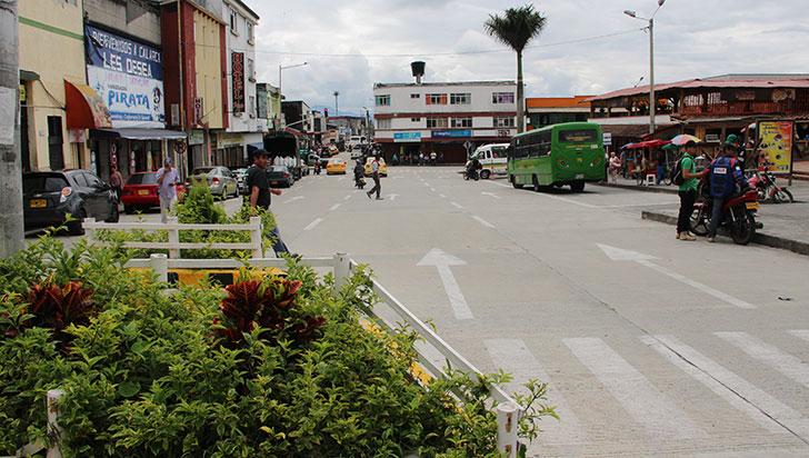 Recuperación del espacio público, la obra destacada en Calarcá