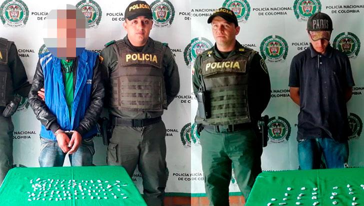 Dos detenidos con estupefacientes en Calarcá
